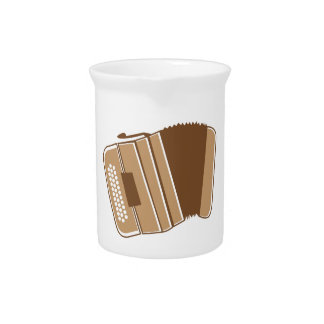 Brown vintage accordion drink pitcher