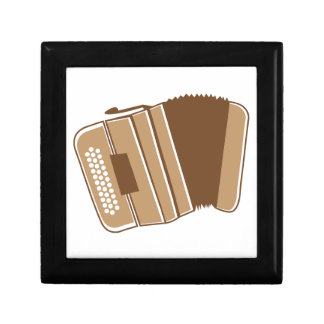 Brown vintage accordion gift box
