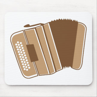 Brown vintage accordion mouse pad