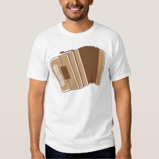 Brown vintage accordion t shirt