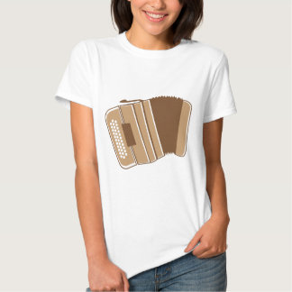 Brown vintage accordion t-shirt