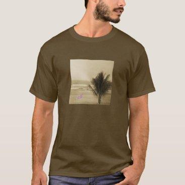 Beach Themed Brown Vintage Beach T-Shirt