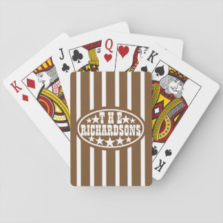 Brown Vintage Carnival Family Playing Cards