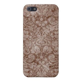 Brown Vintage Cloth Damask iPhone 4 Case