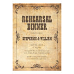 Brown Vintage Floral Rehearsal Dinner Card Personalized Announcement