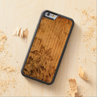 brown vintage flowers swirl abstract vector art carved® cherry iPhone 6 bumper
