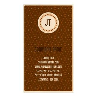 Brown Vintage Gambler Cowboy Business Card