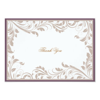 Brown Vintage God39s Bless Wedding Thank You Notes Card