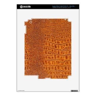 Brown vintage leather texture iPad 3 skin