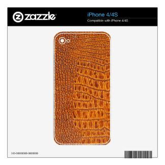 Brown vintage leather texture iPhone 4S decal