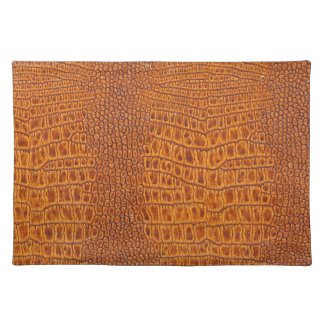 Brown vintage leather texture placemat
