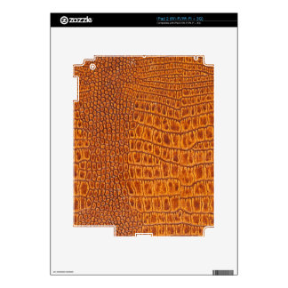 Brown vintage leather texture skin for the iPad 2