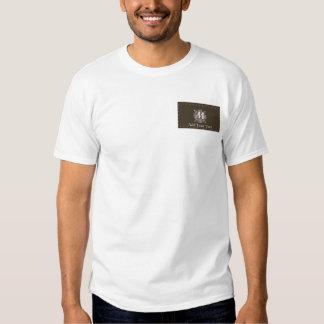 Brown Vintage Monogram Business T Shirts