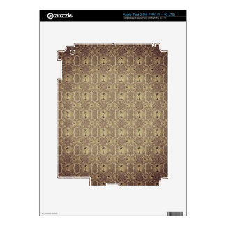Brown Vintage Palm Abstract Pattern Decals For iPad 3