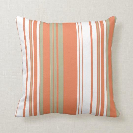 Brown Vintage Stripes Art Design Abstract Throw Pillow
