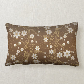 brown vintage vector flowers throw pillows