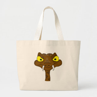Brown viper large tote bag