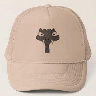Brown viper trucker hat