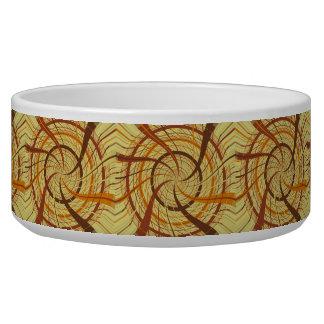 Brown vortex bowl