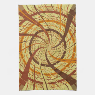 Brown vortex hand towel