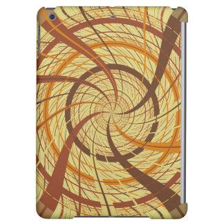 Brown vortex iPad air covers