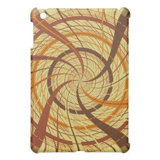 Brown vortex iPad mini case
