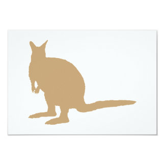 Brown Wallaby. 3.5x5 Paper Invitation Card