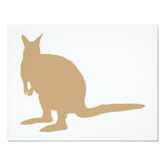 Brown Wallaby. 4.25x5.5 Paper Invitation Card