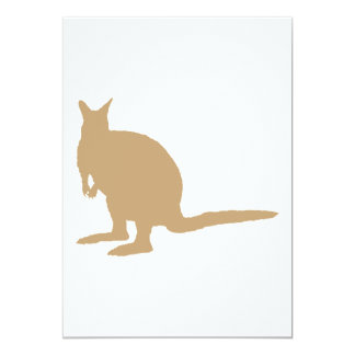 Brown Wallaby. 5x7 Paper Invitation Card