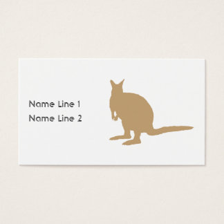 Brown Wallaby. Business Card