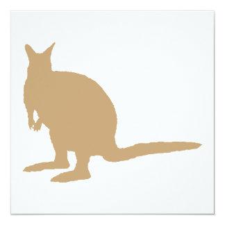 Brown Wallaby. Invitation