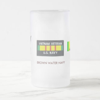 brown water navy... frosted glass beer mug