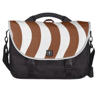 Brown Wave Stripes Laptop Bag