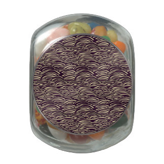 Brown waves pattern. Sea texture. Glass Jars