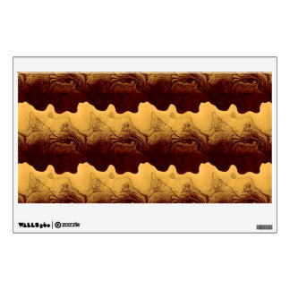 Brown waves wall graphic