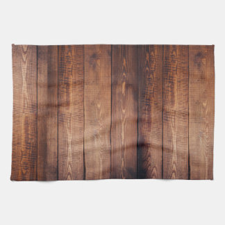 Brown Weathered Wood Wall Texture Kitchen Towel