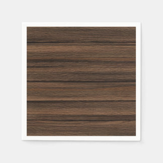 Brown Weathered Wood Wall Texture Standard Cocktail Napkin