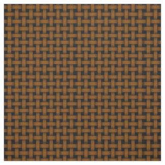 Brown Weave Pattern Cotton Linen Fabric