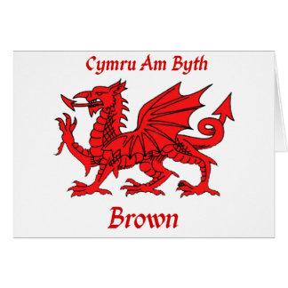 Brown Welsh Dragon CAB Card