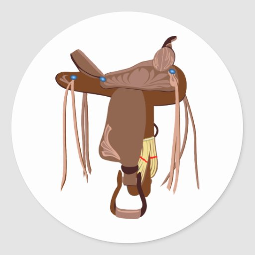 Brown Western Saddle Stickers