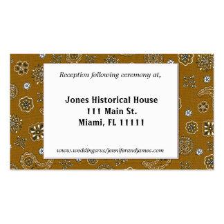 Brown Western Wedding Reception Cards