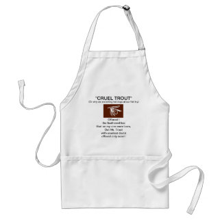 """Brown Wet Fly-Cruel Trout""  Apron"