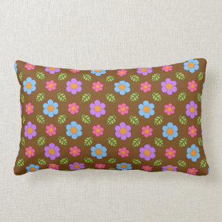 Brown Whimsy Floral Pillow