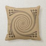 Brown Whirligig Pillow