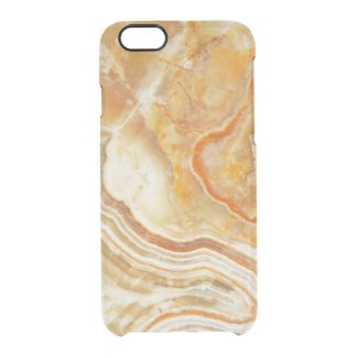 Brown White And BeigeAbstract Marble Pattern Uncommon Clearly™ Deflector iPhone 6 Case
