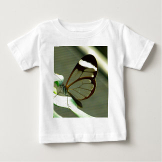 Brown White and Translucent Winged Butterfly Baby T-Shirt