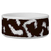 Brown white animal skin texture of leopard bowl