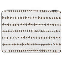 Brown White Aztec Arrows Pattern iPad Air Cover at Zazzle
