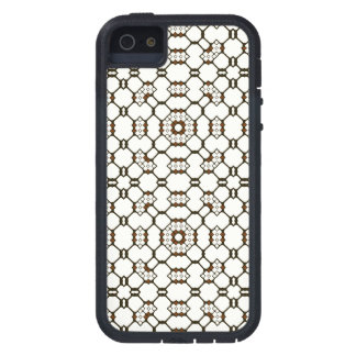 Brown White Black Geometric Circuitry Dots Squares iPhone 5 Covers