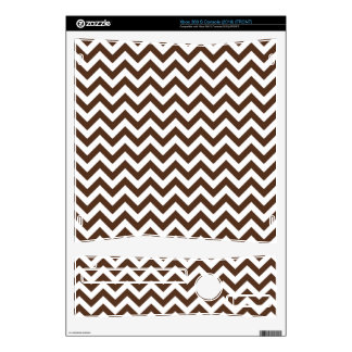 Brown White Chevron Pattern Decals For Xbox 360 S